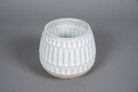 A570HX Cache-pot en céramique blanc D16cm H14cm