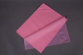 A571QX Paquet de 240 feuilles papier de soie rose 50x75cm