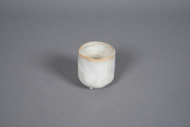 A576HX Cache-pot en céramique crème D7cm H8cm