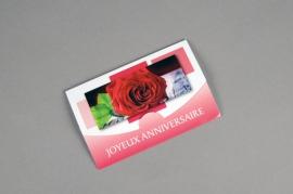 A576MQ Paquet de 10 cartes Joyeux Anniversaire