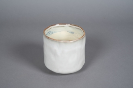 A577HX Cache-pot en céramique crème D13cm H14cm
