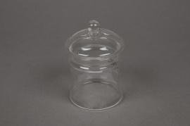 A581SH Bonbonnière en verre D6.5cm H9cm