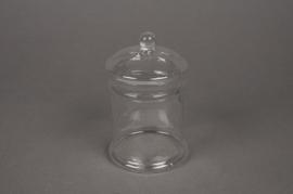 A582SH Glass sweetbox D8cm H13cm