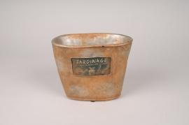 A592HX Jardinière en béton antique 18.5x10.5cm H15cm