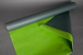 A610QX Rouleau de papier kraft gris / vert pomme 0,8x50m