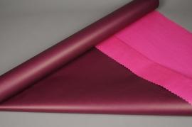 A612QX Rouleau de papier kraft aubergine / fuchsia 0,8x50m