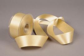 A616UN Gold satin ribbon 40mm x 25m