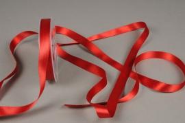 A625UN Red satin ribbon 15mm x 25m