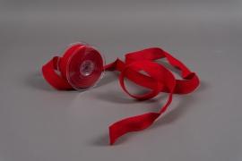 A631UN Red cotton ribbon 38mm x 10m
