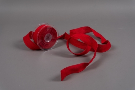 A631UN Ruban de coton rouge 38mm x 10m