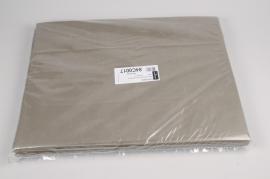 A655QX Paquet de 480 feuilles papier de soie taupe 50x75cm