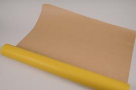 A656QX Yellow kraft paper roll 80cm x 50m