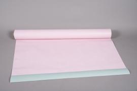 A675QX Rouleau de papier kraft vert / rose 0,80cm x 40m