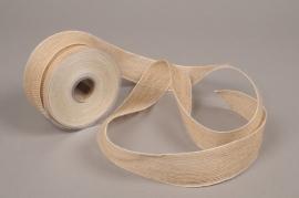 A682UN Natural jute ribbon 40mmx12m