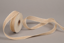 A683UN Natural jute ribbon 25mmx12m