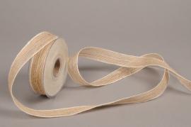 A683UN Natural jute ribbon 25mmx12m