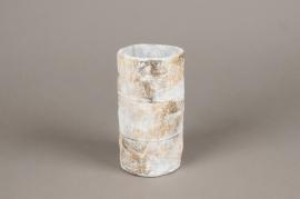 A692WV Vase en béton gris D9cm H16cm