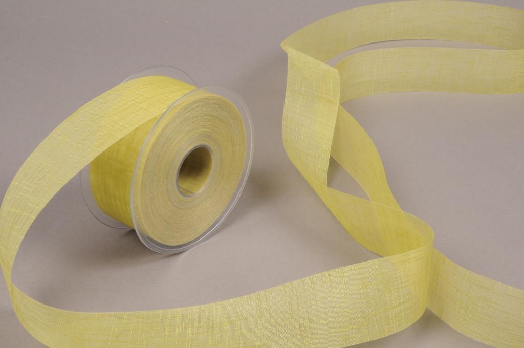 A693UN Green fabric ribbon 40mm x 25m