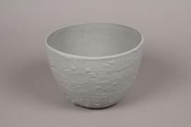 A702UO Cache-pot céramique gris D24cm H16cm