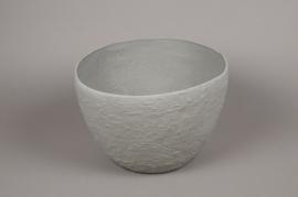 A703UO Cache-pot céramique gris D31cm H22cm