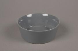 A703WV Grey ceramic bowl D13cm H5cm