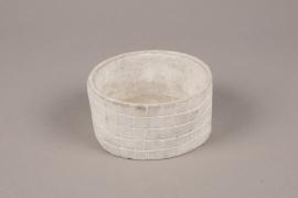 A705WV Grey terracotta pot D12cm H6cm