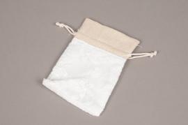 A708UN Paquet de 10 sacs en coton blanc L9cm H12cm