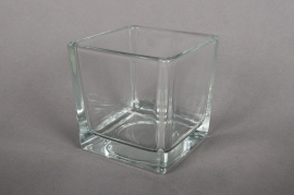 A709IH Cube en verre 8x8cm H8cm