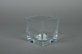 A710IH Vase en verre cube 10x10x10cm