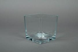 A711IH Glass cube vase 12x12cm H12cm
