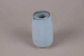 A712WV Vase en céramique bleu D9cm H15cm