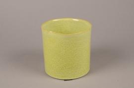 A714WV Cache-pot en céramique vert D15cm H15cm