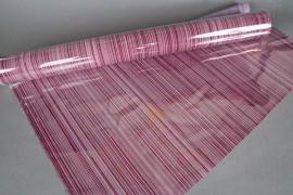 A718QX Rouleau de gaine cellophane bordeaux 80cm x 50m
