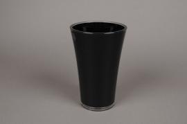 A724QX Vase en plastique noir D13cm H20cm