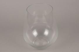 A724WV Glass vase D25cm H26cm