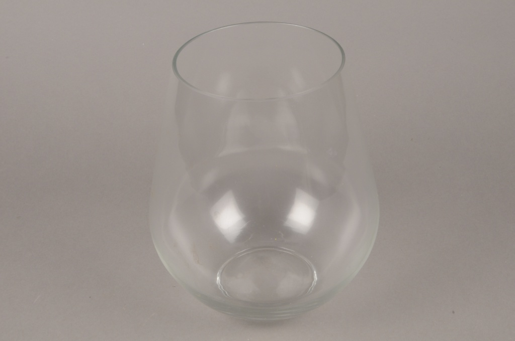 A724WV Vase en verre obus D25cm H26cm