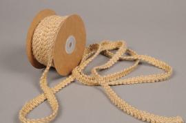 A726UN Natural jute braid ribbon 12mmx10m