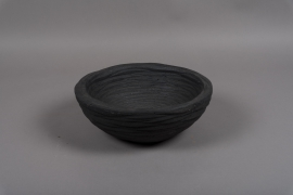 A733UO Black resin bowl D29cm H10.5cm
