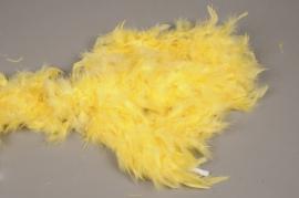 A735KI Boa plumes jaune L184cm