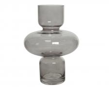 A754KI Vase en verre totem gris H28cm