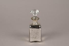 A761UO Bouteille en verre argent H17cm