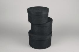 A769UN Set de 3 boîtes en carton noir