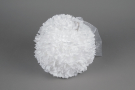 A770DQ White fabric flower ball ornament D36cm