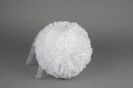 A771DQ White fabric flower ball ornament D30cm