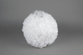 A772DQ Boule fleur en tissu blanc D25cm