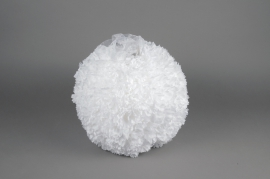 A772DQ White fabric flower ball ornament D25cm
