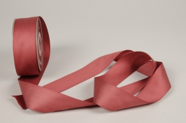 A776UN Dark pink satin ribbon 40mm x 15m