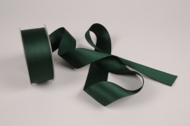 A777UN Green satin ribbon 40mm x 15m