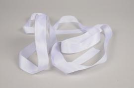A778UN White satin ribbon 25mm x 15m