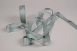 A788UN Green satin ribbon 25mm x 15m